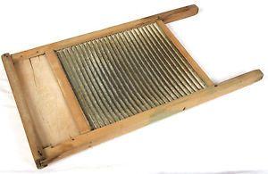 Antique Wooden Wash Board Clothes Washing Machine Vintage Housewares