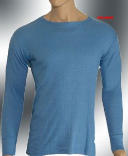 Mens Thermal Underwear 2 Blue Long Sleeve Vest XXL