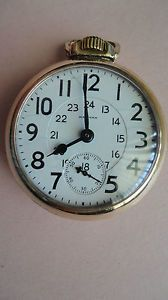 Antique 19 Jewel Waltham Vanguard Railroad Pocket Watch with Gold Filled Case