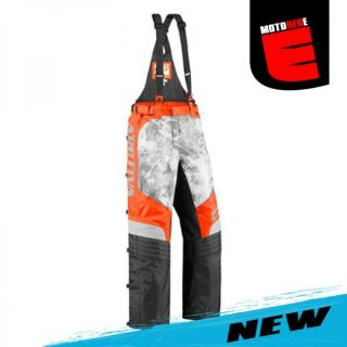 Arctiva Comp RR 6 Snowmobile Winter Bib Overalls Pants Orange Camo Size US 28