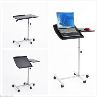 Portable Laptop Lap Desk Rolling Table Adjustable Laptop Stand Notebook Bed Tray