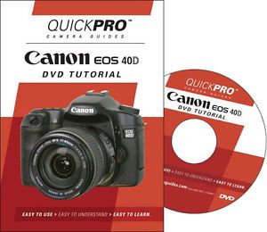 Canon 40D Instructional DVD Camera Guide Manual Tutorial