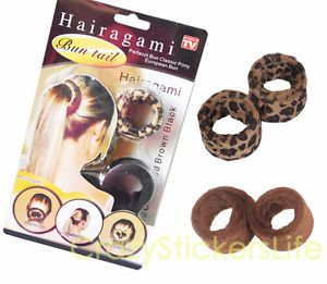 2X Hair Styling Tool Hairagami Perfect Spiral European Bun Classic Pony Tail Kit
