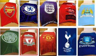Official Football Clubs Teams Fleece Blanket Throws