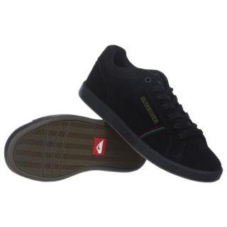 Quiksilver Little Area 5 Slim Suede Mens Shoe Black footwear Shoes Rasta Gum