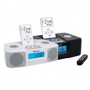Supersonic Digital Alarm Clock Radio w iPod Docking Station  Link Buzzer Aux