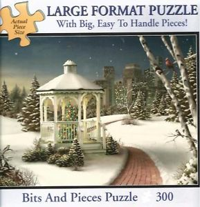 """Bits Pieces """"Christmas in The City"""" Large Format 300 Piece Puzzle So Pretty"""