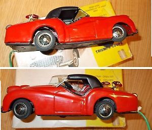 Bandai Triumph Coupe Tin Battery Operated Remote Control Car w Box Excellent N W