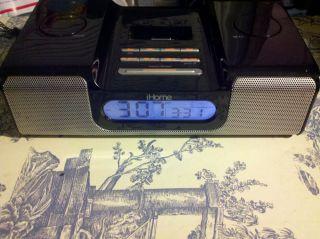 iHome IH5B Docking Station Speaker System Alarm Clock Radio iPod iPhone Read