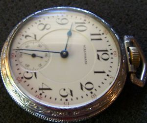 Waltham Vanguard Pocket Watch 23 Jewel Sz 16 Running Display Case