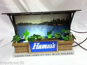 OH4 Hamms Beer Sign Light Lake Scene Lighted Bar Display Hamm's Vintage Water