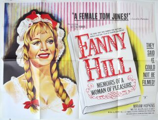 Fanny Hill 1968 Original Cinema Quad Movie Poster Russ Meyer Leticia Roman