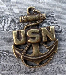 United States Navy Nautical Anchor SHIP Pendant Brass Vintage Naval Rope Marine