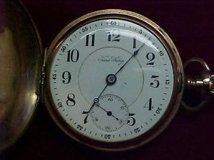 Illinois 17 Jewel Time King Vintage Hunt Case Pocket Watch 18 Size