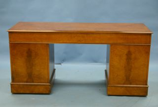 Antique Style Walnut Credenza Computer Desk