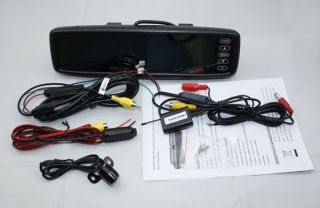 """Wireless 4 3"""" TFT LCD Clip on Mirror Monitor Rear View System Backup Camera"""