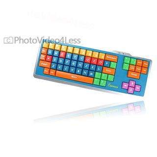 New Impecca Educational Kids Computer Keyboard with Color Coded Keys