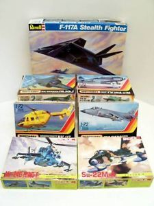 Model Military Aircraft Airplane Kits Revell Matchbox DML 7 Kits 1986 1990