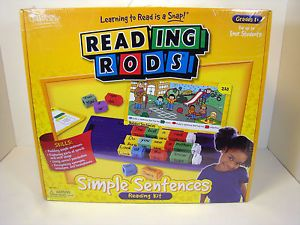 Reading Rods Simple Sentences Classroom Kit Grade 1 Learning Resources LER 7142