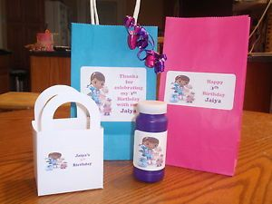 Doc McStuffins Goody Bag Labels Stickers Birthday Party Address Bubble Favor