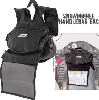 Snowmobile Handlebar Map Storage Luggage Bag Polaris Ski Doo Yamaha Arctic Cat