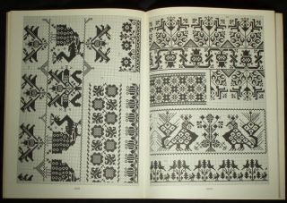 Book Charted Folk Embroidery Pattern Romanian German Austria Ethnic Design Saxon