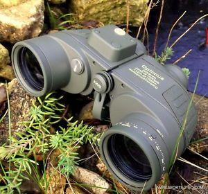Optimus 7x50 Marine Waterproof Floating Binoculars Scope Sight RF Compass Grn