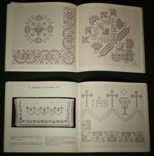 Book German Cross Stitch Patterns Ethnic Embroidery Historic Textile Antique Art