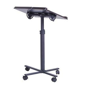 Deluxe Rolling Portable Adjustable Tiltable Laptop Notebook Cart Table Desk