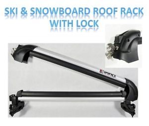 New Inno Gravity Ski Snowboard Carrier Car Roof Rack Mount Lock with Key