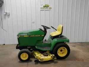 Used John Deere 455 Diesel Lawn and Garden Tractor 60 inch Deck Runs