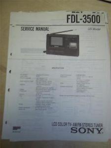 Sony Service Manual FDL 3500 LCD TV Tuner Original Repair