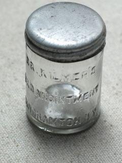 Vintage Dr Kilmer's U O Anointment Binghamton N Y Medicine Bottle