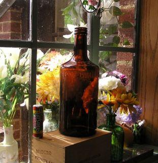 Antique Liquor Bitters Bottle Blood Tonic Ferro China Bisleri New York 1920