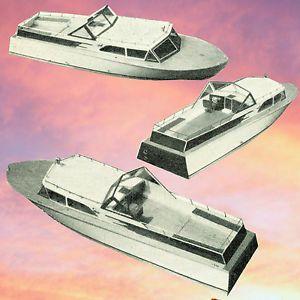 Vintage Model Boat Plans Radio Control Cabin Cruiser Building Notes