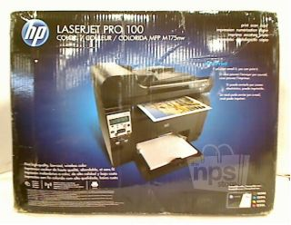 HP MFP M175nw Black Laser Jet Pro 100 Multi Function Color Printer New