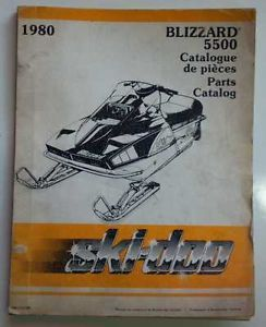 1980 Ski Doo Blizzard 5500 Parts Manual Complete
