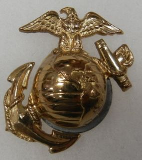 WW2 Vintage USMC Marine EGA Dress Cover Em Hat Badge