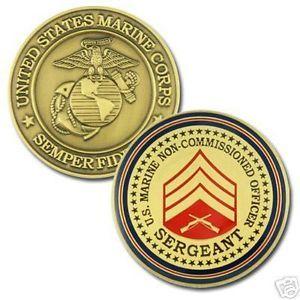 USMC Marine Corps Sergeant E 5 NCO Challenge Coin