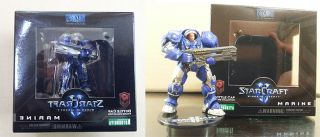 Starcraft 2 Kotobukiya Marine HYDRALISK Zealot 3set Bottle Cap Collect Figure
