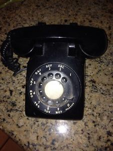 Vintage Black 1956 Western Electric Bell System CD500 Rotary Phone Telephone 50s