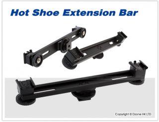 18cm Camera Video Photo Hot Shoe Extension Bar Fr Speedlite Flash LED Light E169