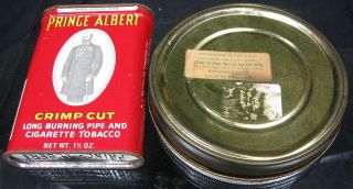Lot of 2 Vintage Tobacco Tin Prince Albert Mac Baren'S