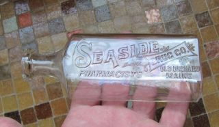 RARE Seaside Drug Co Pharmacists Old Orchard Maine Medicine Bottle Me