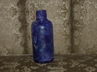 Antique Blue Cobalt Medicine Bottle