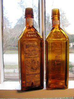 Grand Rapids Mich Hop Tonic Semi Cabin Bitters Medicine Bottles 2 1 Labeled