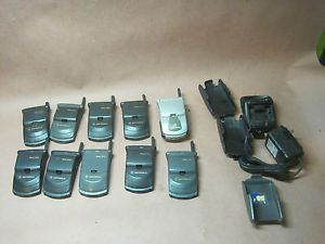 Motorola Startac Cell Phone Lot Flip Phone Dual Band Digital as Is Lot