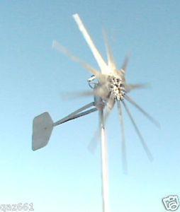 1600W Fire Bird 10 Bladed Lo Wind Turbine 12 Volt Generators High Amps