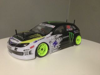 Custom Build 1 10 Remote Control Drift Car RTR RC w Battery Charger Subaru WRX