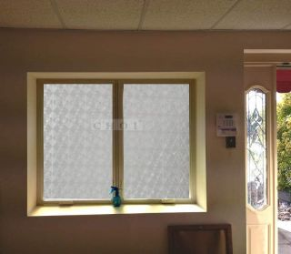 532 Decorative 3D Laser Solid Reflective Static Cling Window Film Treatment